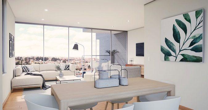 Apartamentos con espectacular vista a la ciudad de Bogotá