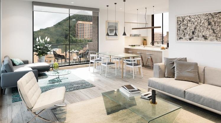 Apartamento con vista a cerros orientales